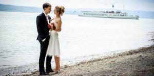 Brautpaar am See, Münchener Hochzeit Fotograf