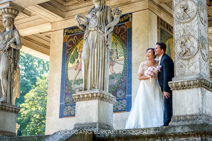Hochzeitsfotografie München, Brautpaar fotoshooting