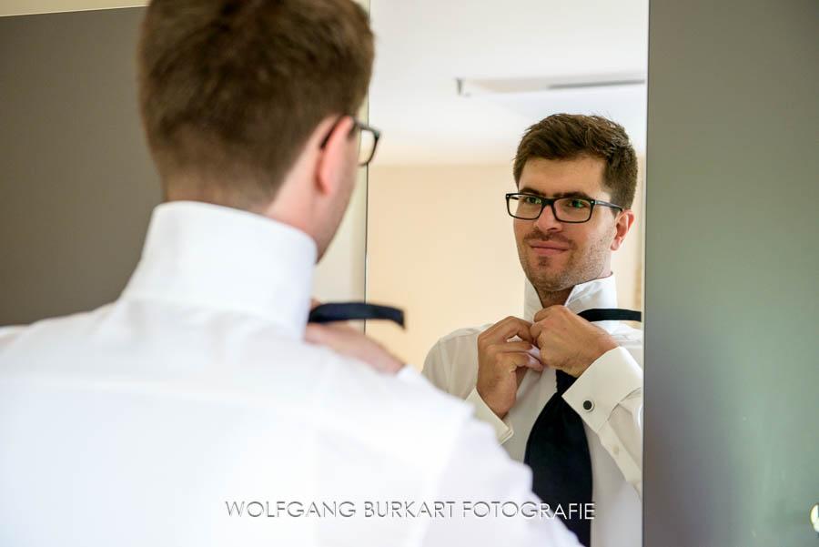 Hochzeits-Fotograf Bayern, Bräutigam Vorbereitung