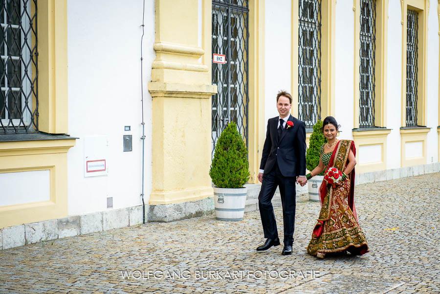 Hochzeit Fotograf München, Ankunft des Brautpaars