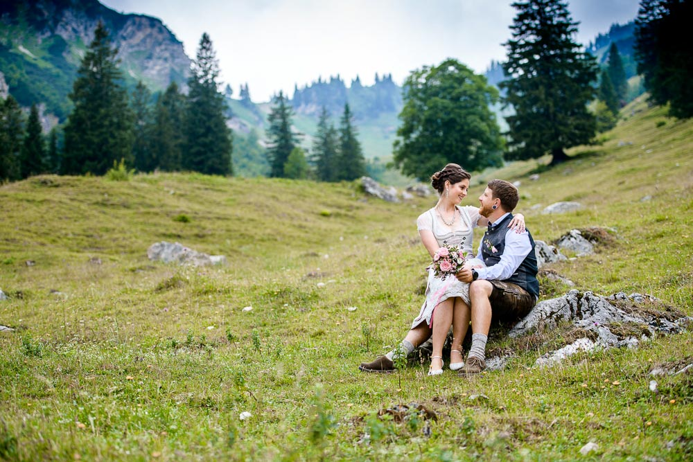 Hochzeit in den Bergen, Brautfoto