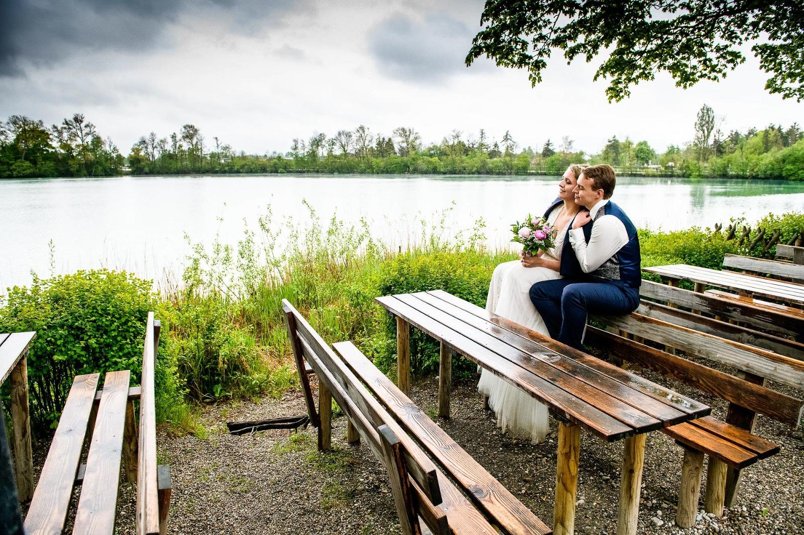 Hochzeitsfotograf München, Hochzeitsbilder am Langwieder See