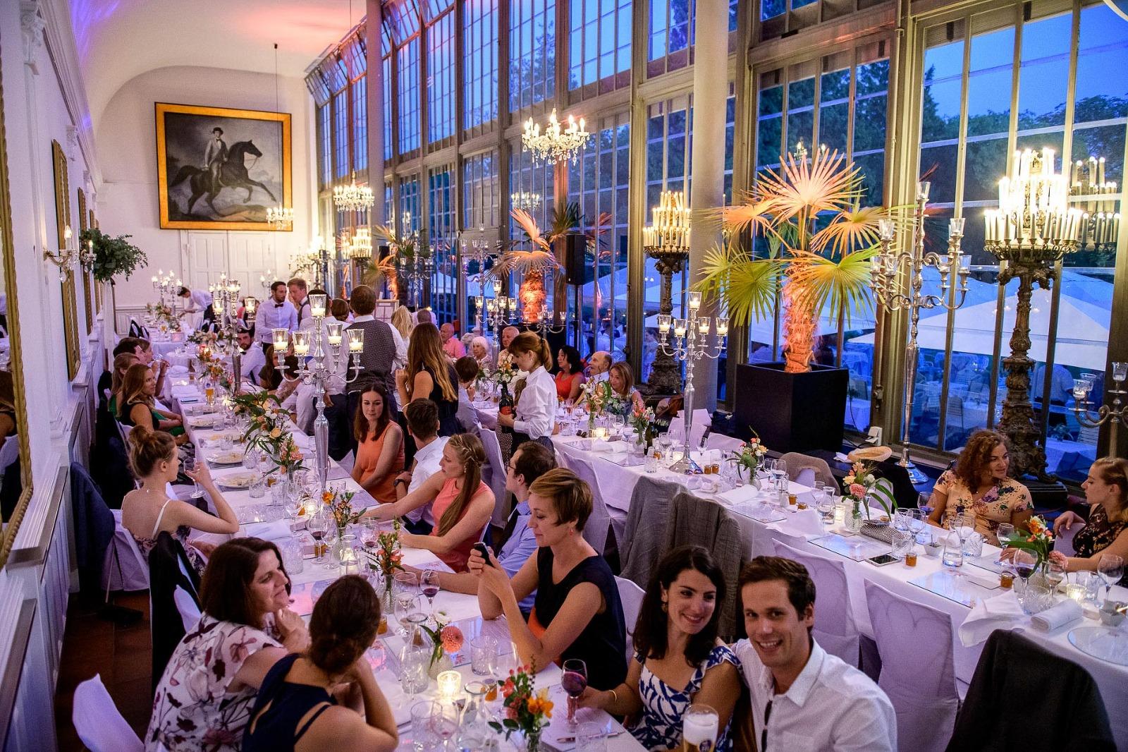 Fotograf München Hochzeit, Hochzeitsfeier im Palmenhaus in Nymphenburg